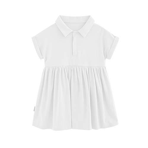 Hongyuangl Schuluniform Kleid Kinder mädchen Polo Shirt Casual Kleid Baumwolle plissiert Tunika Kleid -