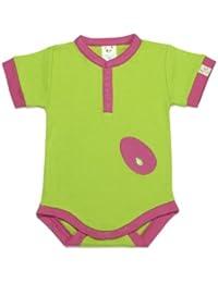 Pandi Panda Baby Girls' Bodysuit pink Fushia Pink 6 to 12 Months