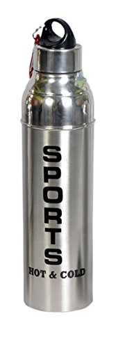 Dynore Stainless Steel Insulated Hot and Cold Water Bottle, 1 Liter, Silver
