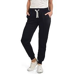 Desires Derby Pantalon De Jogging Survêtement De Sport pour Femme Doublure Polaire Coupe Régulaire, Taille:XL, Couleur:Black (9000)