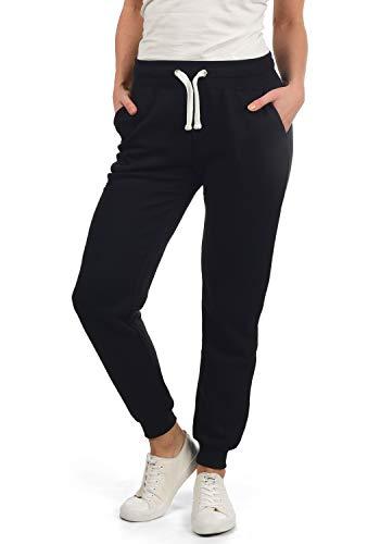 DESIRES Derby Damen Sweathose Sweatpants Relaxhose Mit Fleece-Innenseite Und Kordel Regular Fit, Größe:XL, Farbe:Black (9000)