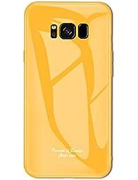 MadBee Funda para Samsung Galaxy S8 [con Protector de Pantalla],9H Cristal Templado [Color Brillantel] [Resistente a Los Arañazos] + Borde de TPU Silicona Suave Fundas Case Cover (Amarillo)