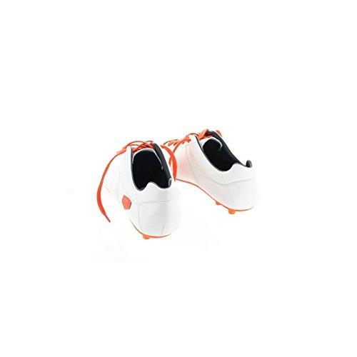 Chaussures de foot crampons moulés - Blanc semelle Orange Blanc 40 - Taille - 40 Blanc