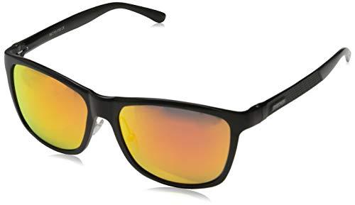 PAERDE Unisex Retro Al-Mg Metallrahmen polarisierte Sonnenbrille für Männer Frauen (Schwarzer Rahmen&Rote Linse) - Super Günstige Laptops