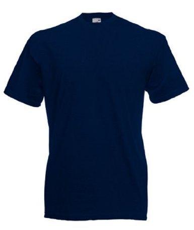 Fruit of the Loom Valueweight T-Shirt DeepNavy L - Basic Damen Lycra Shirt