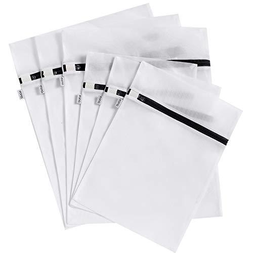 Amazon Marke: Eono Essentials 6 Set Wäschenetz für Waschmaschine, Dessous und Feinwäsche Wäschesack, Wäschebeutel aus Netzstoff Set mit Reißverschluss, ideal für Alle Arten von Kleidung, BHs, Schuhen