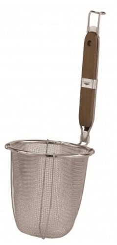 Paderno World Cuisine Noodle Strainer with Stainless Steel Mesh and Wood Handle by Paderno World Cuisine Paderno World Cuisine Mesh