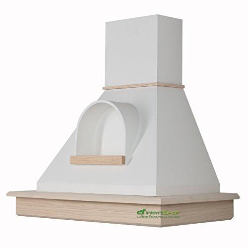 Cappa cucina rustica legno mod.Stock 90 parete - frassino grezzo e ...
