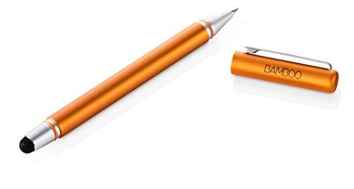 Stylus Duo 3. Generation, Touchscreen-Eingabestift für iPad, iPhone, Android Tablets, Smartphones mit austauschbarer Pen Carbonspitze und Kugelschreiber, orange ()