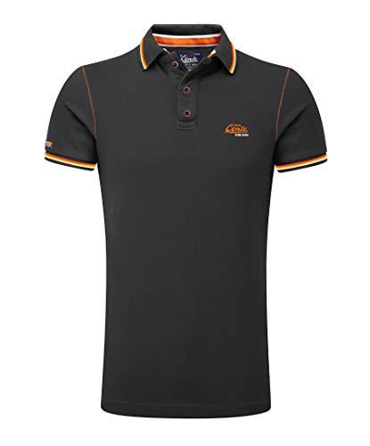 Lycra-hemd (M.Conte Herren Poloshirt Kurzarm Stretch Polohemd T-Shirt Polo-Shirt Pique Basic Men's Plain Royal Blau M L XL XXL XXXL Romano (XXXL, Schwarz Black ...))