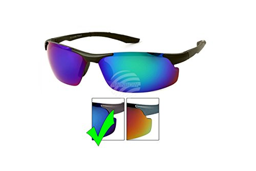 Brille Sonnenbrille Viper Sport-Chrom Spiegelbild Spiegel-vs-320 Einheitsgröße blau