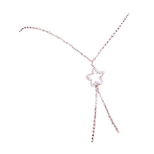 TININNA Tirantes para sujetador, diseño cruzado en la espalda de tira de cristales en forma de diamante Para Moda Elegante Mujer Novia.-blanco