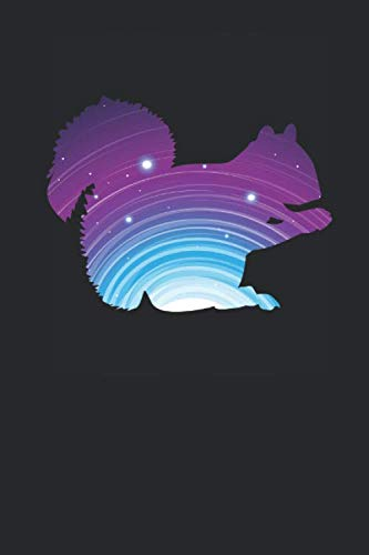 Wild-tier-silhouette (Squirrel Galactic Silhouette: Squirrels Notebook, Dotted Bullet (6