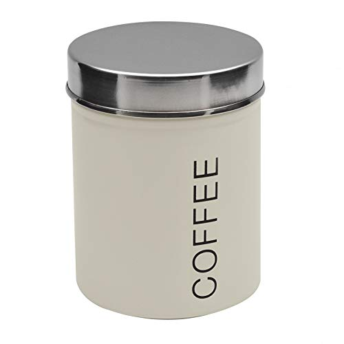 Harbor Haushalt Metall Kaffeebehälter - Creme - 95mm x 130mm Küche Kanister