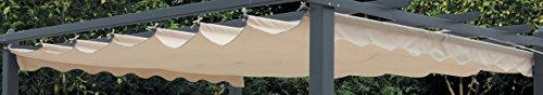 Telo di copertura top di ricambio per pergola 3x4 mt semimpermeabile da esterno
