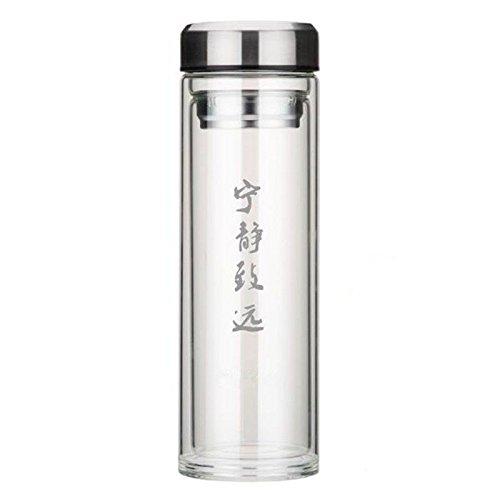 SHULING Großen Glas Klares Wasser Schüssel mit Deckel Filter- und Hitzebeständige Tasse Tee Double Portable Cups, C, 1000Ml (Schüssel Glas Großes Klares)