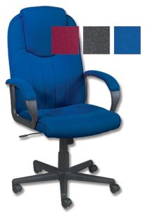 Trexus Intro Managers Armchair High Back 670mm Seat W520xD470xH440-540mm Blue
