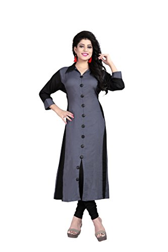 J B Fashion Women'S Reyon Grey color Kurta (kurti for women-106_X-Large)