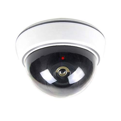 2X professionelle Domkameras Dummy mit Blinkler Kamera Attrappe mit Objektiv und Blinkled Videoüberwachung Warensicherung - Dummy Videoüberwachung