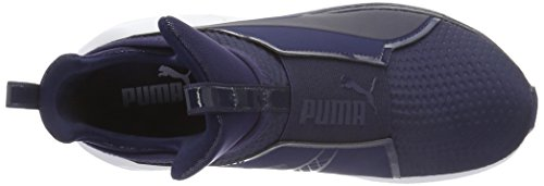 Puma Fierce Eng Mesh, Baskets Basses Femme Bleu - Blau (PEACOAT-puma White 04)