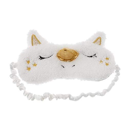 (Tier-Augen-Schablone Weicher Plüsch-Einhorn-Schlafmasken Für Frauen Girls Home Schlafen Reisen)
