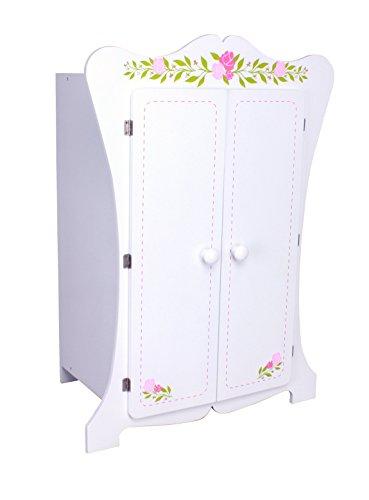 Kinderschrank #355 Kleiderschrank 70cm hoch Puppenschrank Wandschrank Hängeschrank weiß 2 Türen habeig®