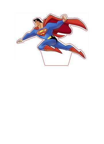 1-pre-cut-42-tall-Superman-stand-up-edible-cake-topper-decoration-by-Topped-Off-FREE-UK-SHIPPING