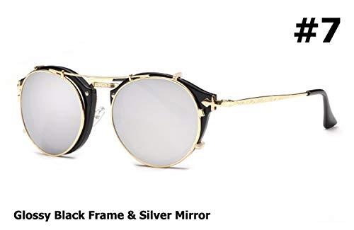 AOCCK Sonnenbrillen,Brillen, NEW Fashion Style Steampunk Clamshell Removable Sunglasses Vintage Retro Brand Design Sun Glasses Oculos De Sol Gafas 7