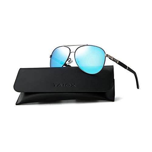 Super Black Bull Polarisierende Sonnenbrille mit blauem Film, polarisierende Sonnenbrille