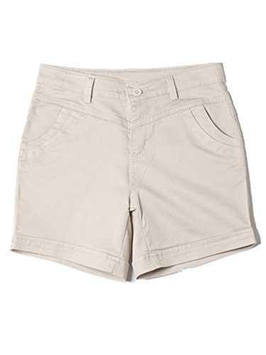 Ecollection® Damen Sommer Shorts Hot Pants Urlaub Strand casual gerade Hose Beige