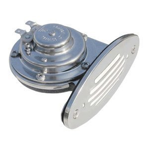 Ongaro Mini Single Drop-in Horn W/SS GRILL-Hohe Pitch von Schmitt Ongaro Marine Produkte (Drop-in-grill)
