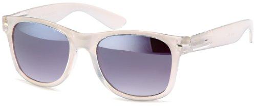 Transparente Sonnenbrillen im wayfarer-style, Gestell Halb-transparent in trendigen Pasteltönen, Brillentrends 2014