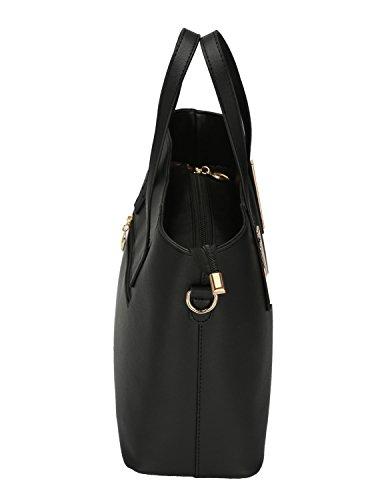 Donne PU manici in pelle tasche tasche sulle spalle borsa a tracolla Borsetta da donna Nero