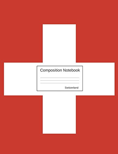 Switzerland Composition Notebook (Football Flag Red)