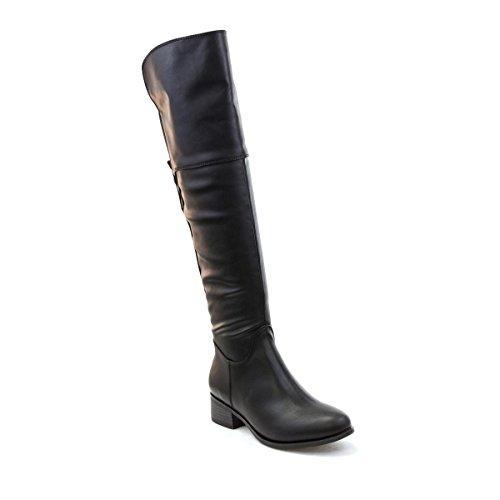 LILLEY Femme Noir sur le genou Bottes d'équitation Noir - noir