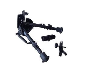 ASG Bipied Universel réglable avec Adaptateur de Rail Picatinny/GRE Adulte Unisexe, Noir, Taille Unique