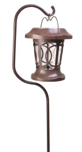 Moonrays 91399 Solar Powered Bradbury Hanging LED Plastic Stake Light, Brown by Moonrays