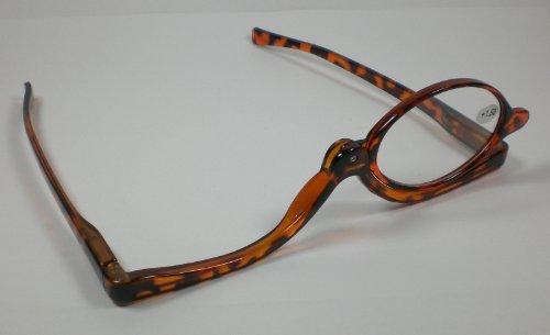 Praktische Schminkbrille Lesebrille 2,0 Diop. Braun Schminkhilfe