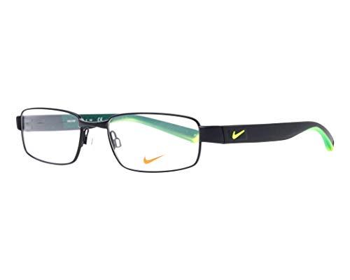 Nike Herren Brillengestelle 8168 010 50, Satin Black-Volt