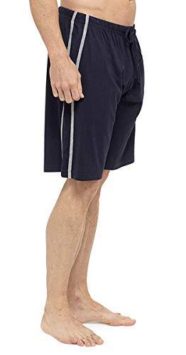 Herren Doppelpack Lounge-hosen Stretch Jersey Schlaf Nachtbekleidung Schlafanzug Pyjama Böden - Marineblau-Grau, Medium (Sleep-lounge-hosen Für Männer)