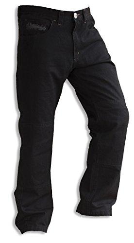 Pantalone Jeans Moto Scooter Motto Wear City Nt Nero Taglia L con inserti in Kevlar e protezioni ginocchie ...