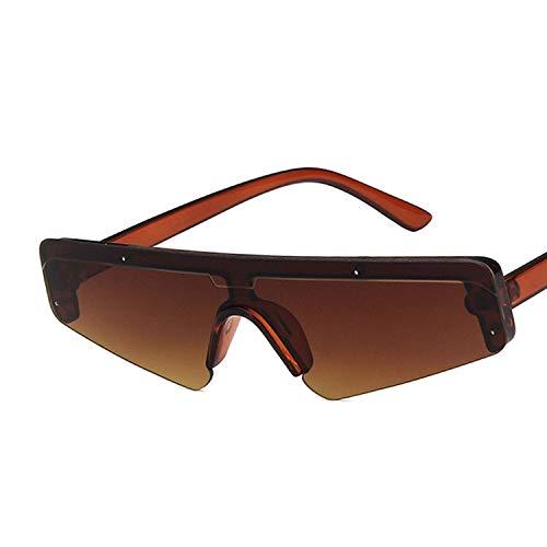 JYTDSA Mode Half-Frame -Rechteck Quadrat Sonnenbrille Frauen MännerSonnenbrillen