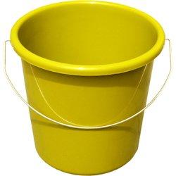 Teko Haushaltseimer aus Kunststoff, mit Metallhalterung und Messung, 10 l, Gelb