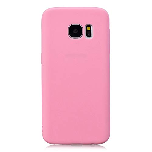 Forhouse Hülle Samsung Galaxy S7 Edge Anti-Scratch, Slim Back Cover Personality Design Clear TPU Hülle Back Cover for Samsung Galaxy S7 Edge - Deep Pink