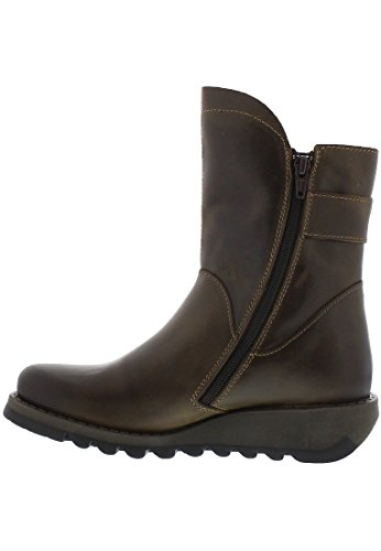 FLY London Damen Sien Chelsea Boots Olive