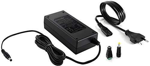 Poppstar Universal AC DC Netzteil 12V 6A 72 W (5,5x2,5mm Anschluss), 2,5 m Kabellänge Gesamt, 5,5x2,1mm Adapter Stecker, Terminalblock für LED SMD Streifen, Festplatte, LCD, TFT -