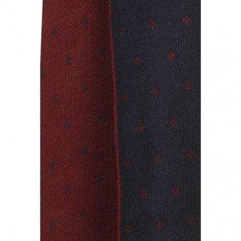 Écharpe réversible en tricot pour homme Gris - Burgundy/Navy