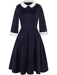 Amazon.fr   robe col claudine   Vêtements 3a6a49aca3c