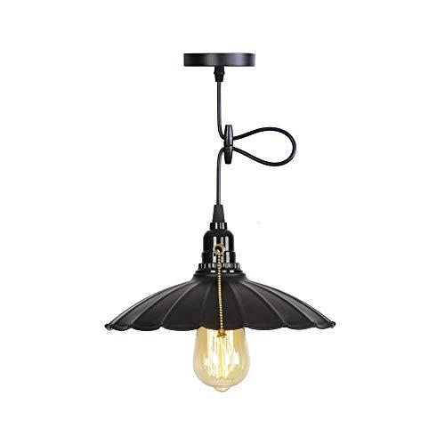 Vintage Cage Kronleuchter Edison-Glühlampe Loft Restaurant Schlafzimmer Anhänger LED E27 Birnen-Beleuchtung Industrie Vintage Eisen-Lampen für Haus, B -