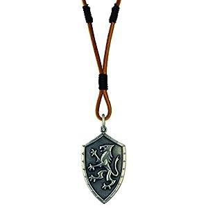 Bico Lion 'S Oath roh Anhänger & Braun Leder Halskette (rb2p8a) –… Es gibt keine EIDE, zwischen Männern und Löwen…